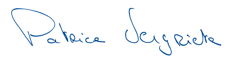 Signature Patrice Vergriete Maire de Dunkerque et Président de la communauté urbaine
